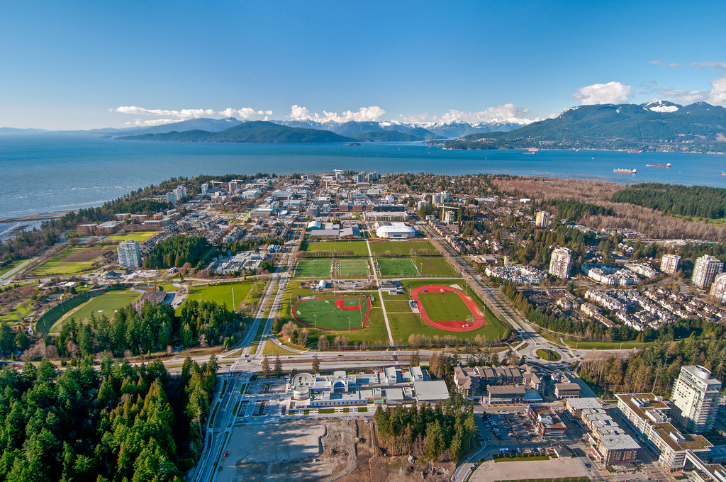 university aerial view   vancouver real estate