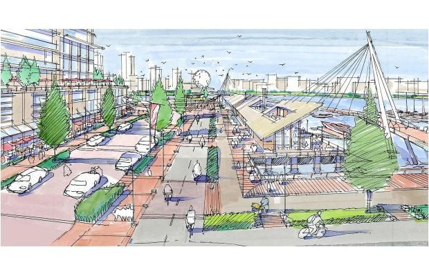 georgia street new urban park rendering