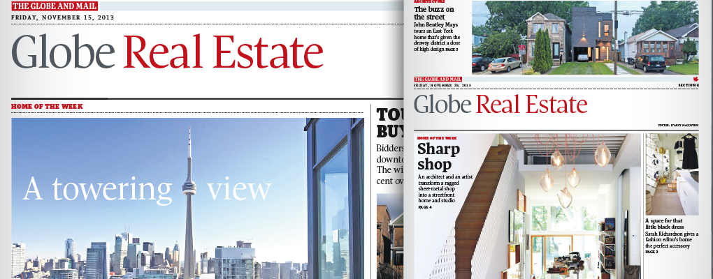 globe  mail real estate section a