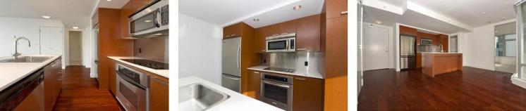 Modern Kitchens at Elan Vancouver 1255 Seymour St.