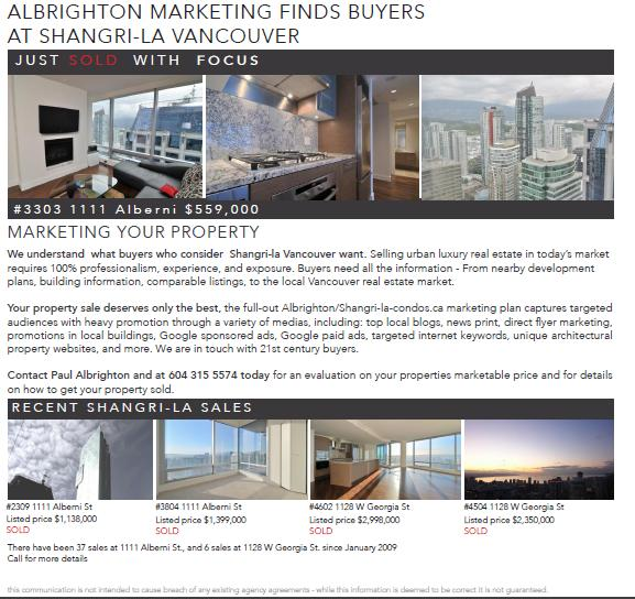 Shangri-la Vancouver last flyer
