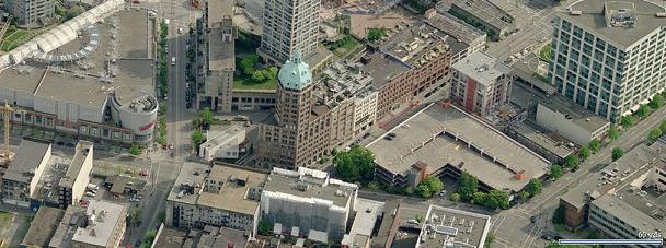 Crosstown Lofts ariel picture birds eye view