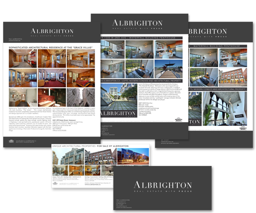 Albrighton Property Marketing Examples spread