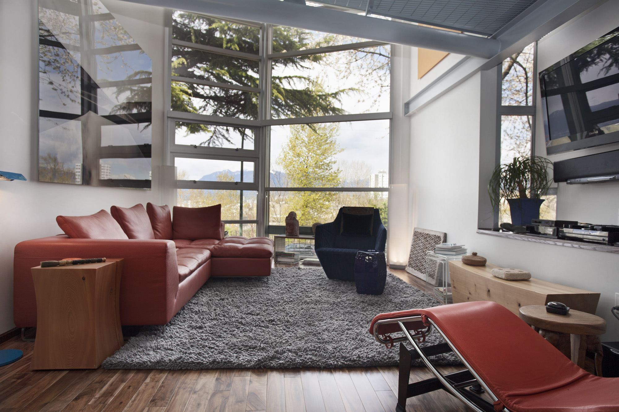 Modern Homes For Sale in Vancouver - Loft Style Duplex 1 living Room