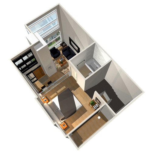 3D Floor Plan-3 blank