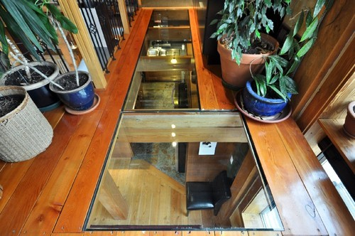 Glass floor loft