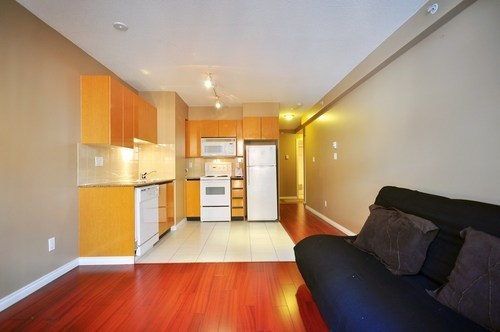 inside #302 1189 Howe St Downtown Condo Studio unit for sale at Genesis by Albrighton