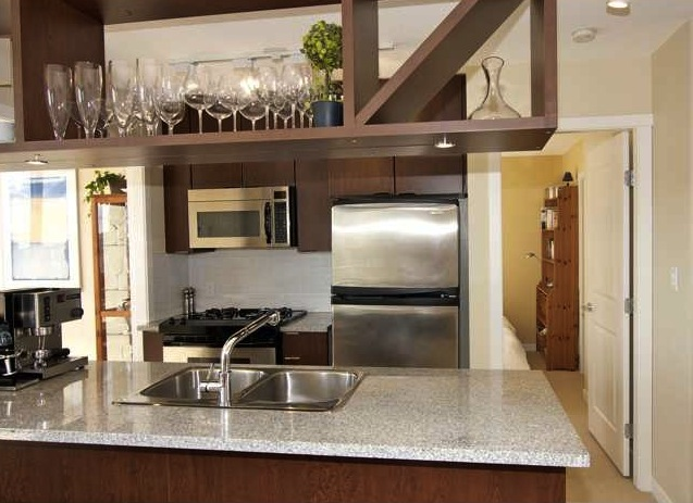 modern downtown condo miro kitchen