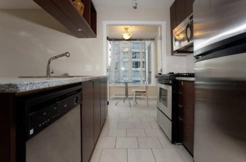 modern downtown condo miro kitchen side