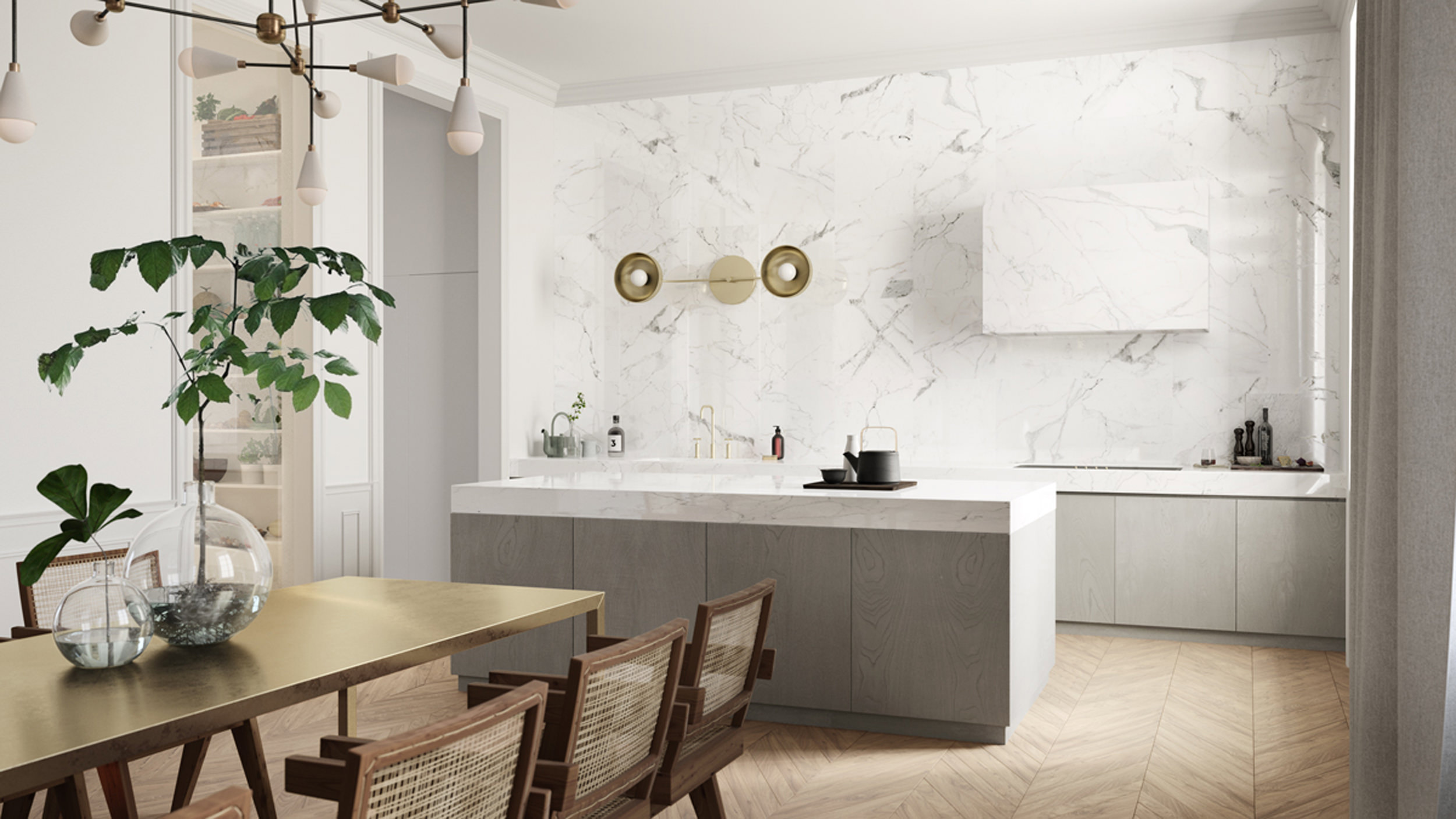 emily henderson design trends 2018 kitchen hidden hood 07