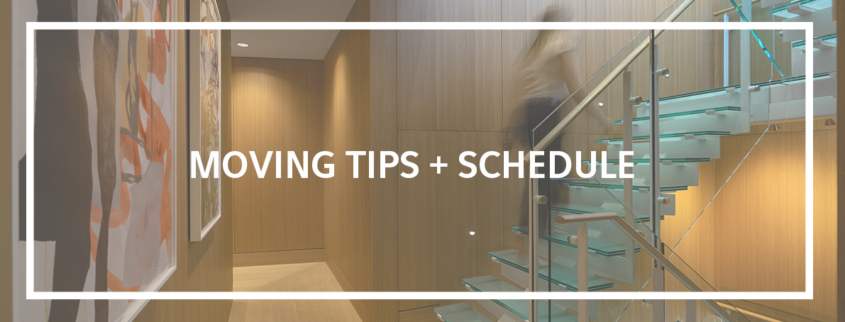 moving tips schedule