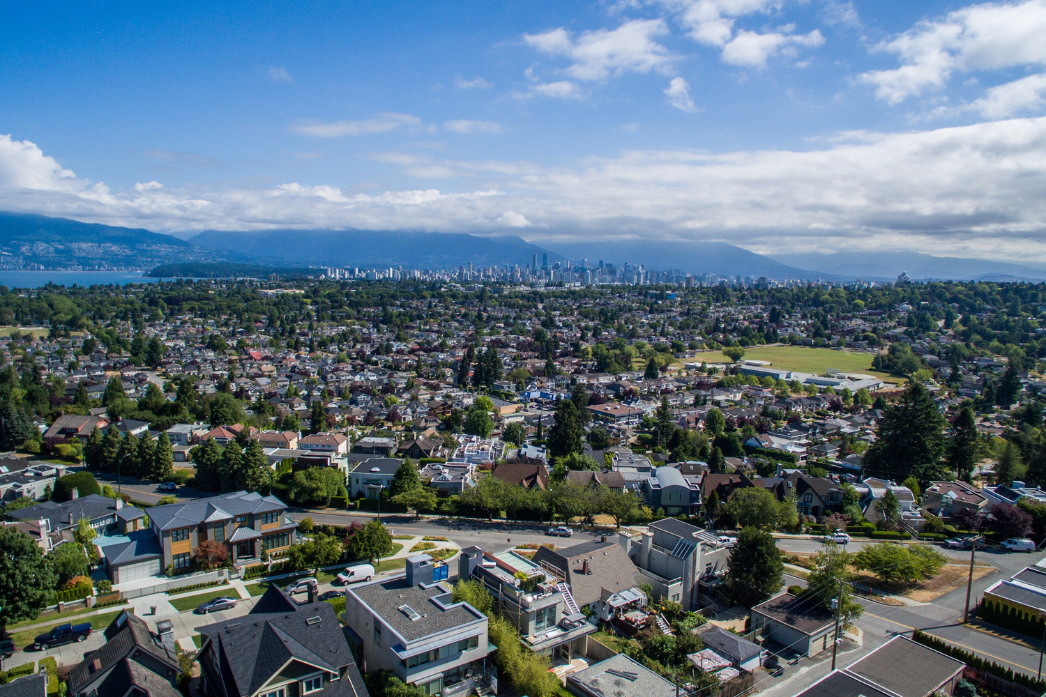 arbutus aerial view houses a