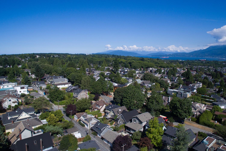 dunbar aerial view houses a