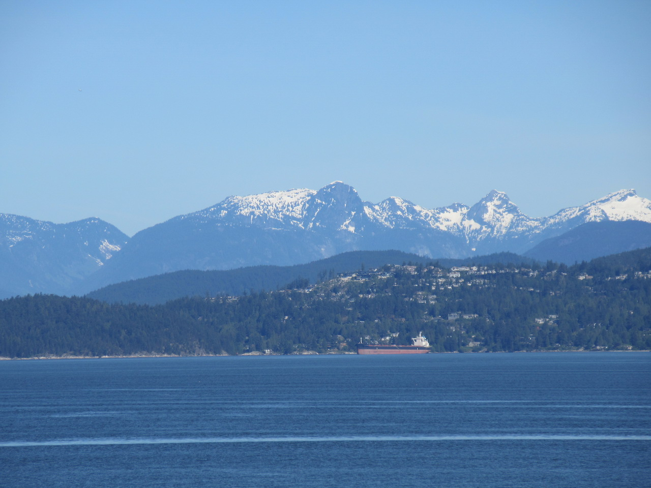 Vancouver Point Grey Mountain and Ocean Views from Waterfront Houses and City Park