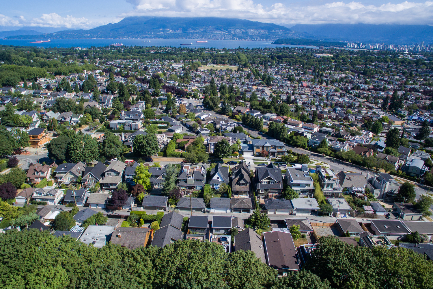 mackenzie hights aerial view houses a