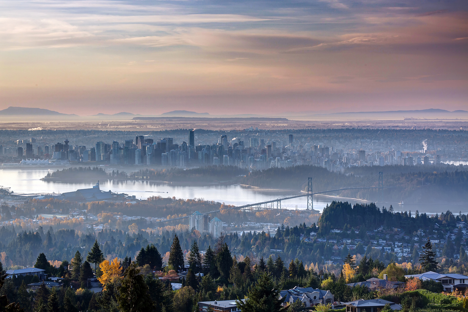 vancouver aerial view from cypress mountain