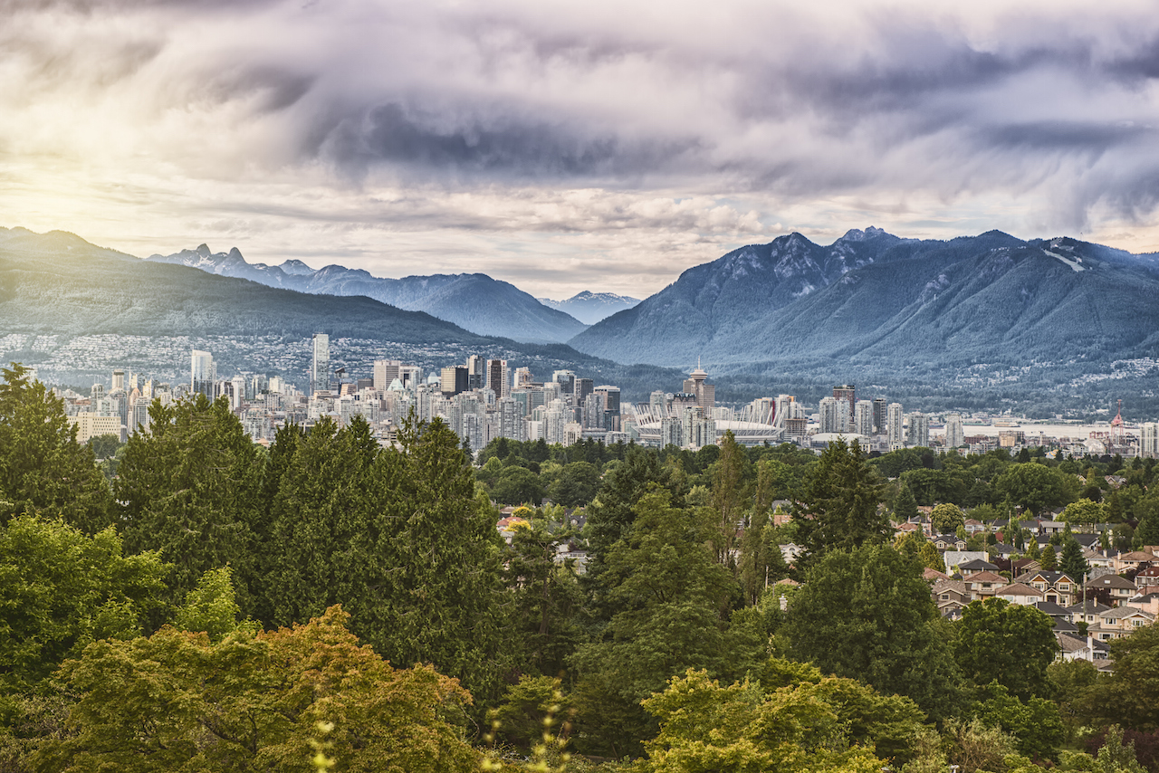 vancouver canada aerial view from queens park
