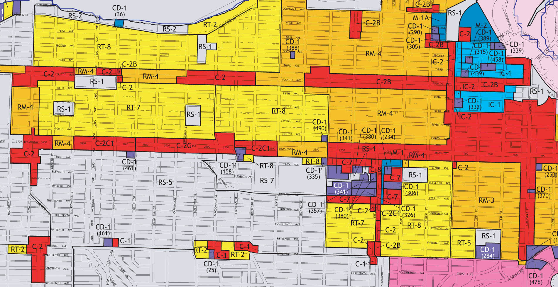 vancouver zoning map kitsilano and west side