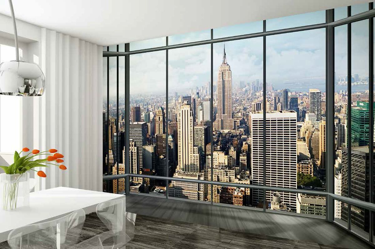 a new york city view wall mural wallpaper 1277 p