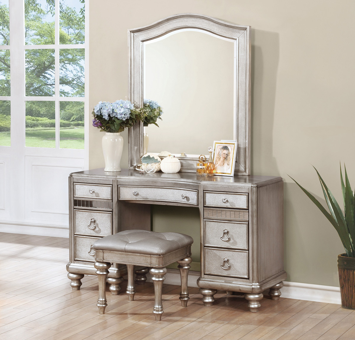 metallic platinum finish vanity ca204187c b