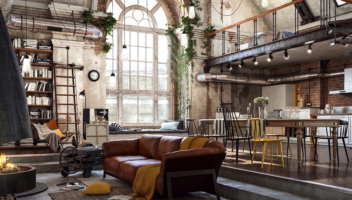 old school loft with industrial