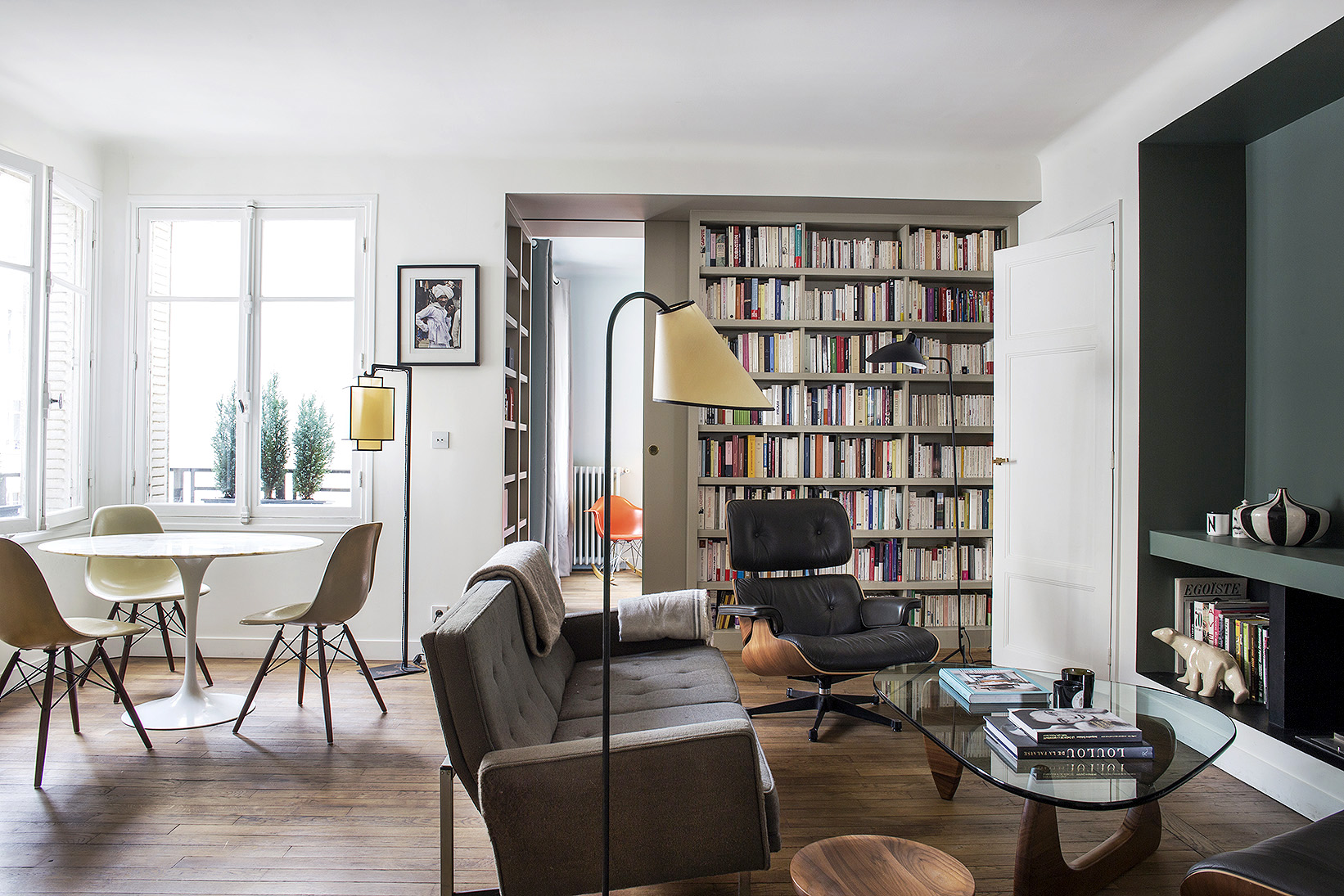 small paris apartment living room philippe harden design 3