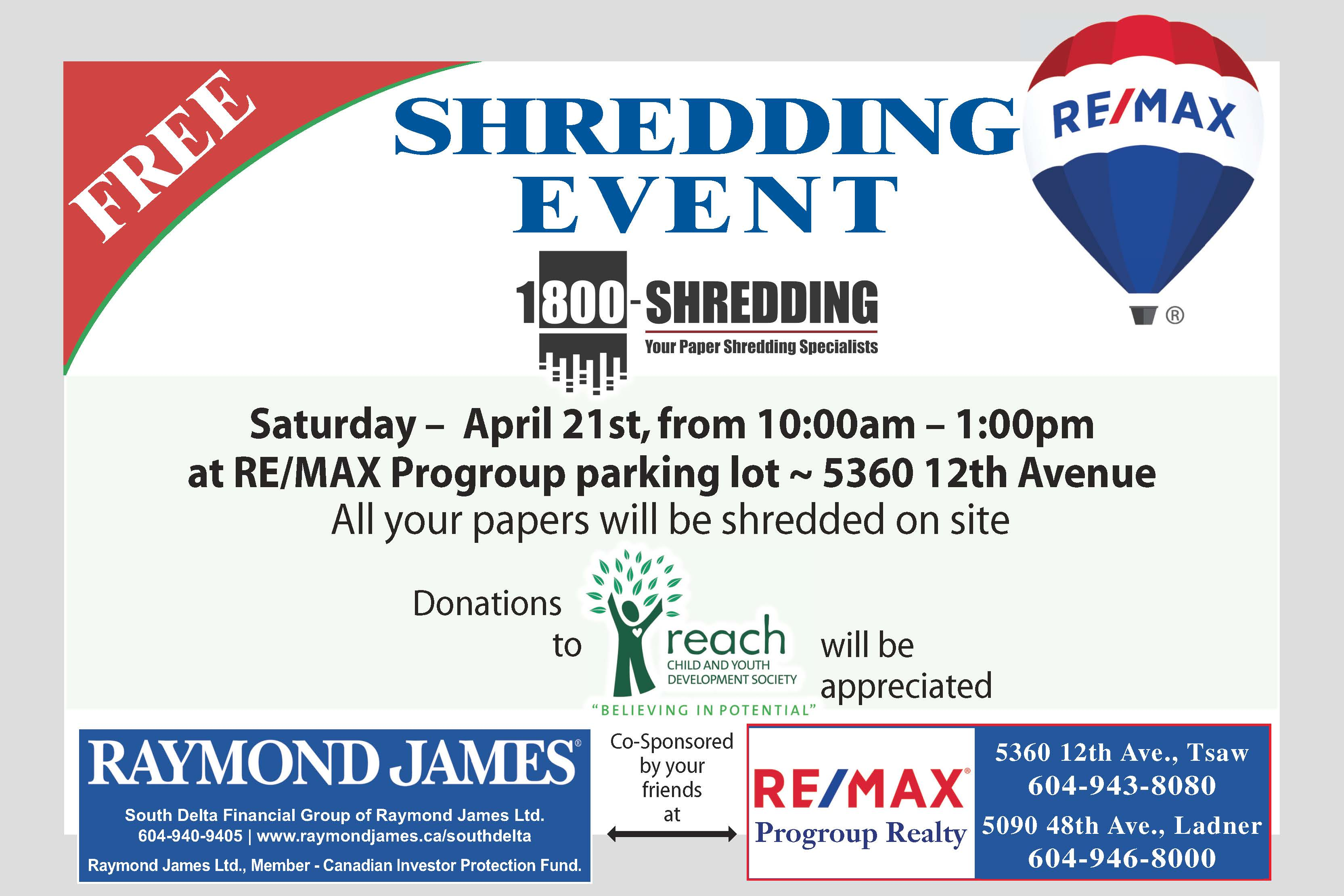 shredding event april 21 2018