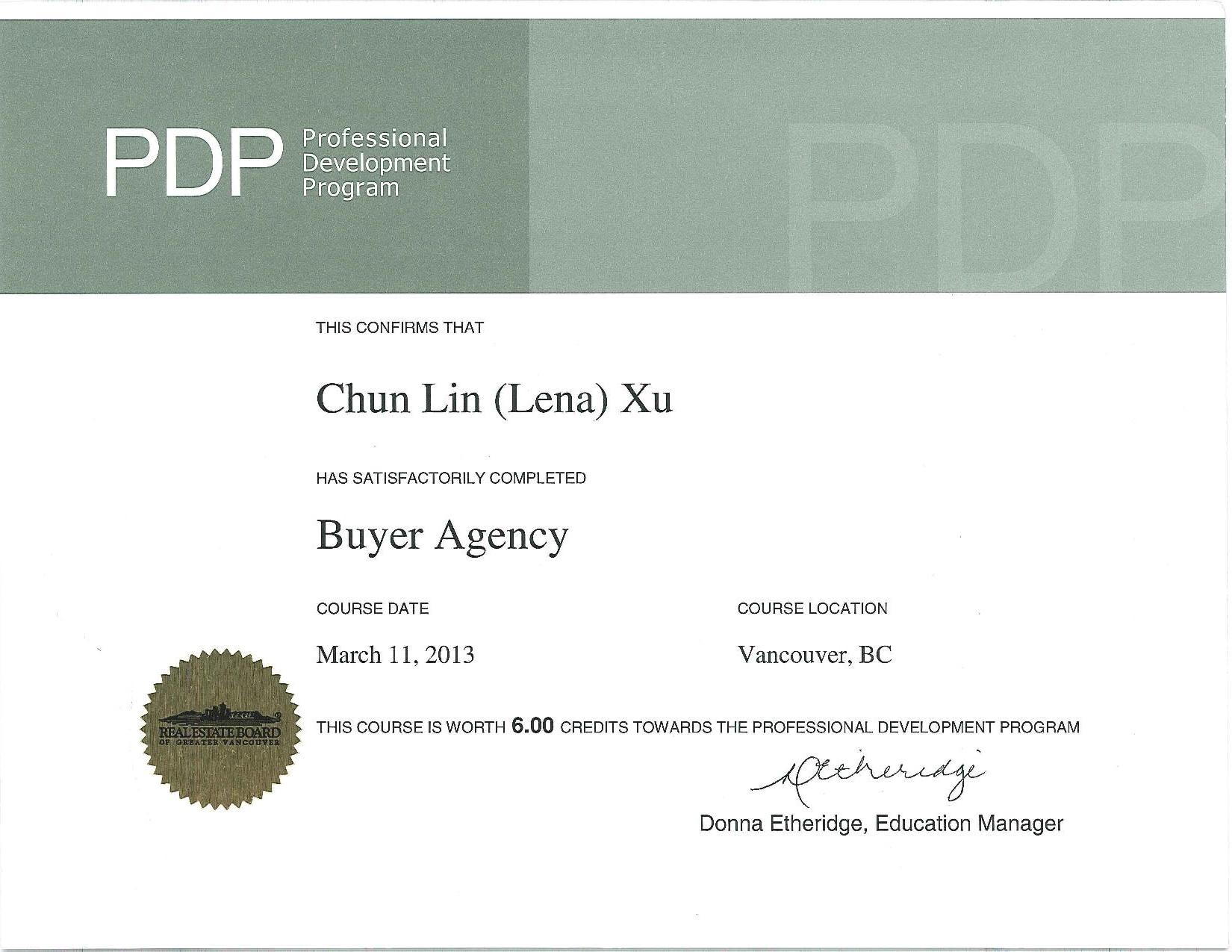 pdp buyer agency course
