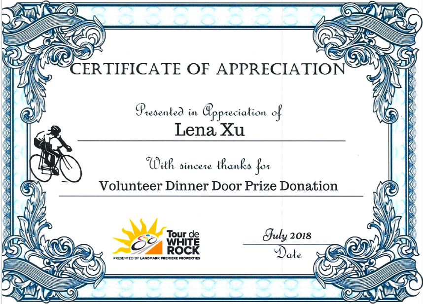 volunteer for tour de white rock a