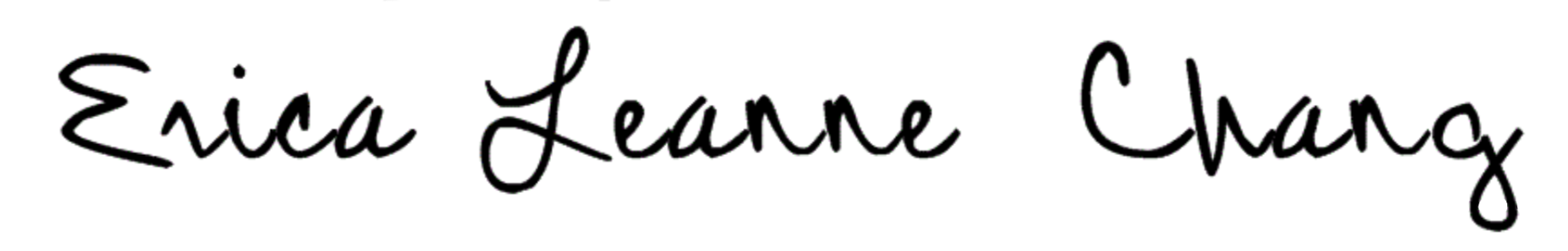 erica leanne chang signature 1
