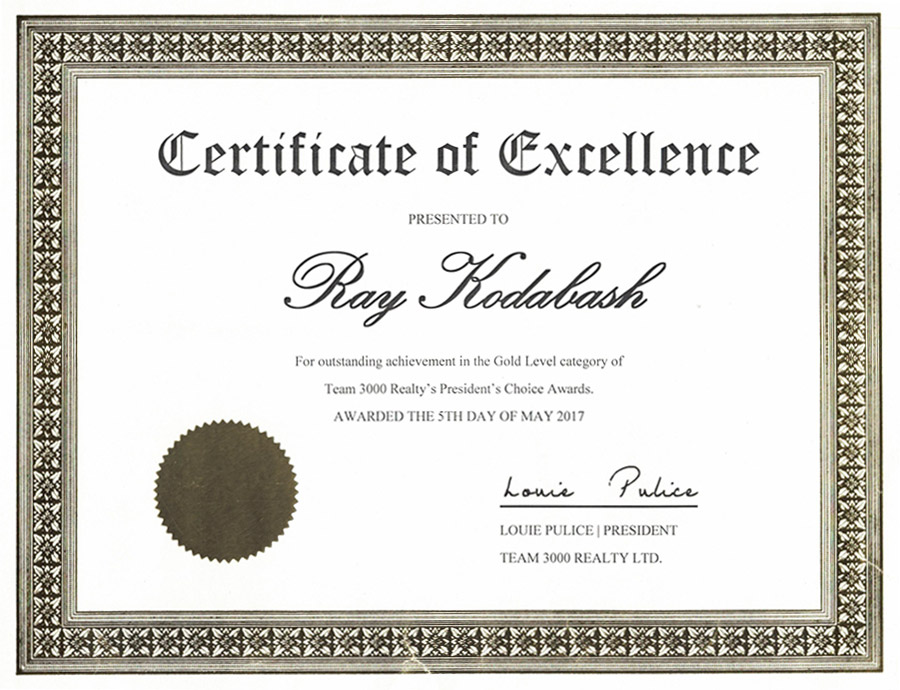 ray kodabash award 3000