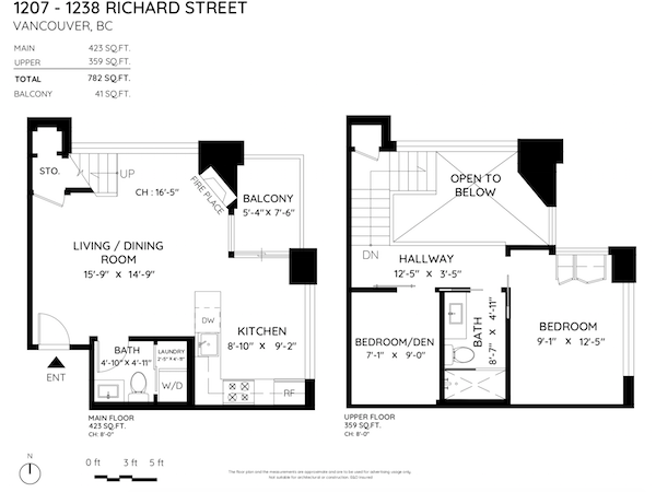 1238 richards st floor plan 2 bedroom