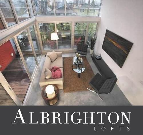 Albrighton lofts logo contemporary loft in Point Grey Vancouver