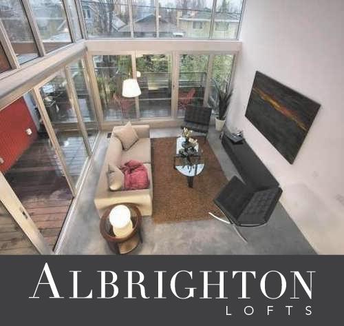 Albrighton lofts logo contemporary loft in Point Grey Vancouver