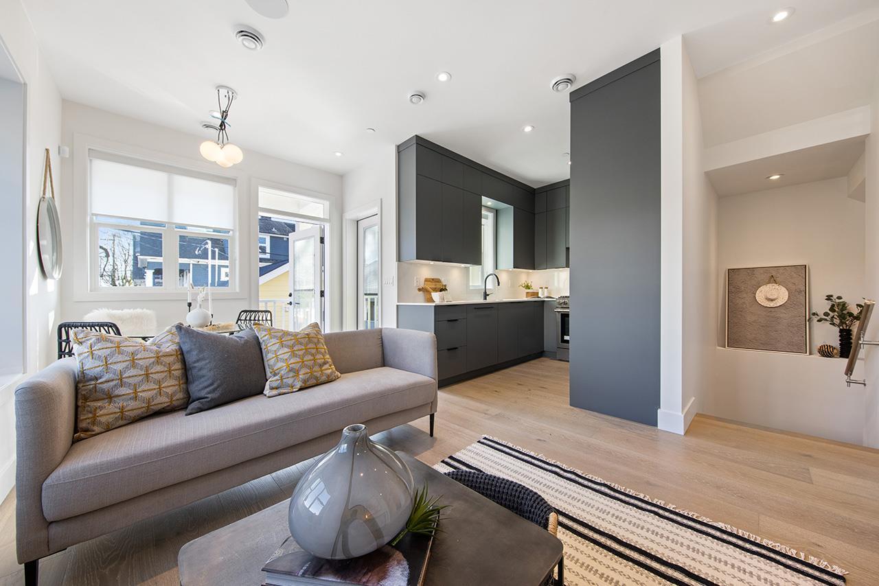 1315 salsbury modern duplex vancouver living area