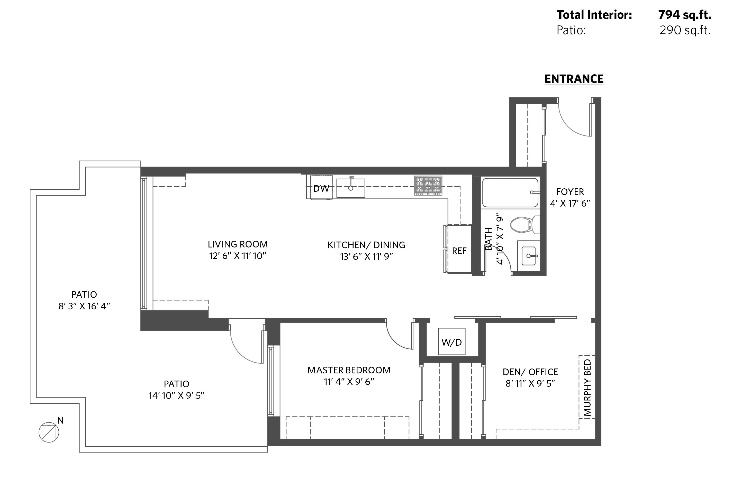 2D Floor Plan Modern North Vancouver Home for sale 206 131 east 3rd street 2d v2