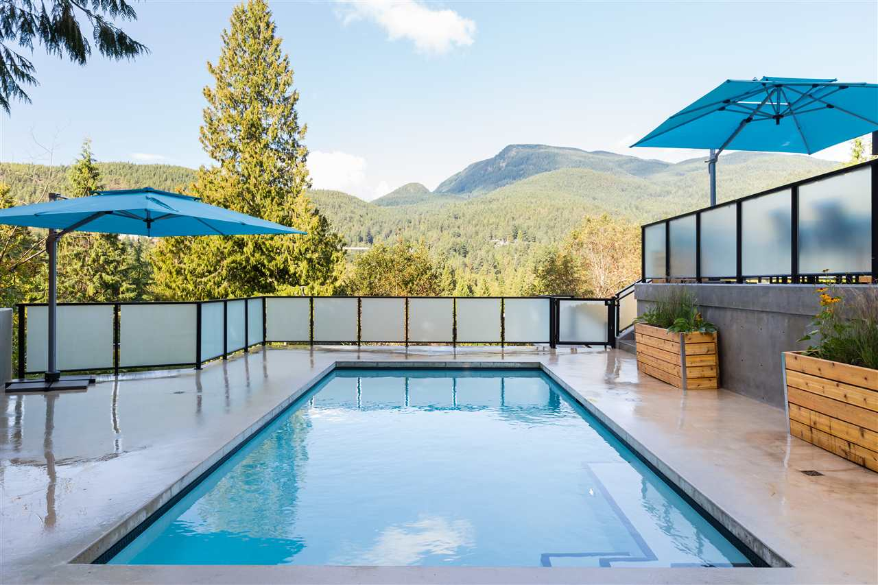 Beautiful Pool Area 5508 Marine Dr - West Van Modern Home