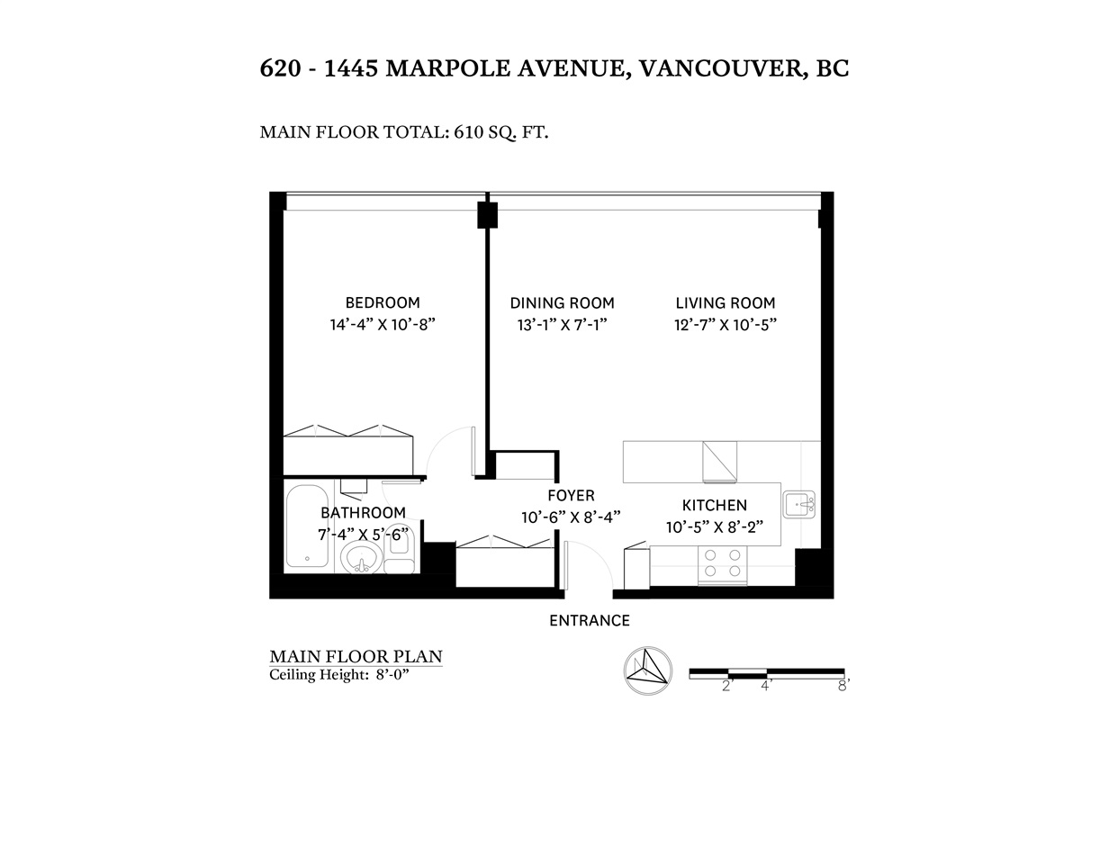 1445 Marpole 1 bedroom floor plan