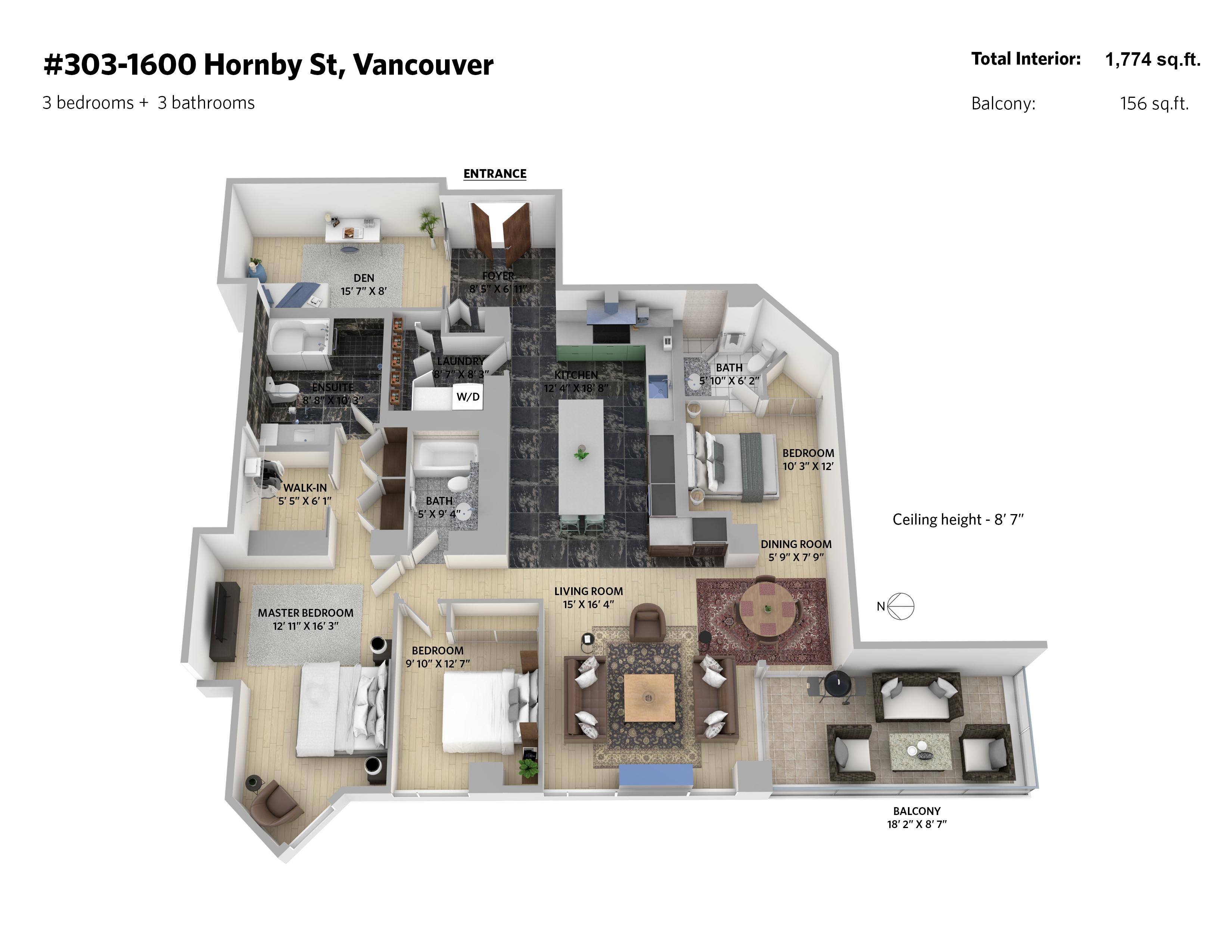 303 1600 hornby street 3d