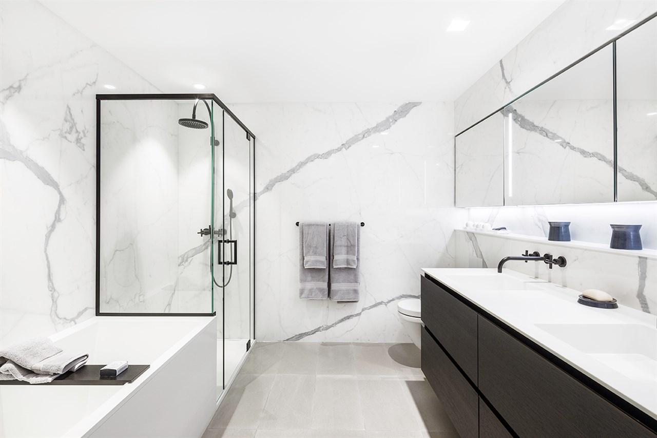 bathroom 620 cardero street vancouver bosa built