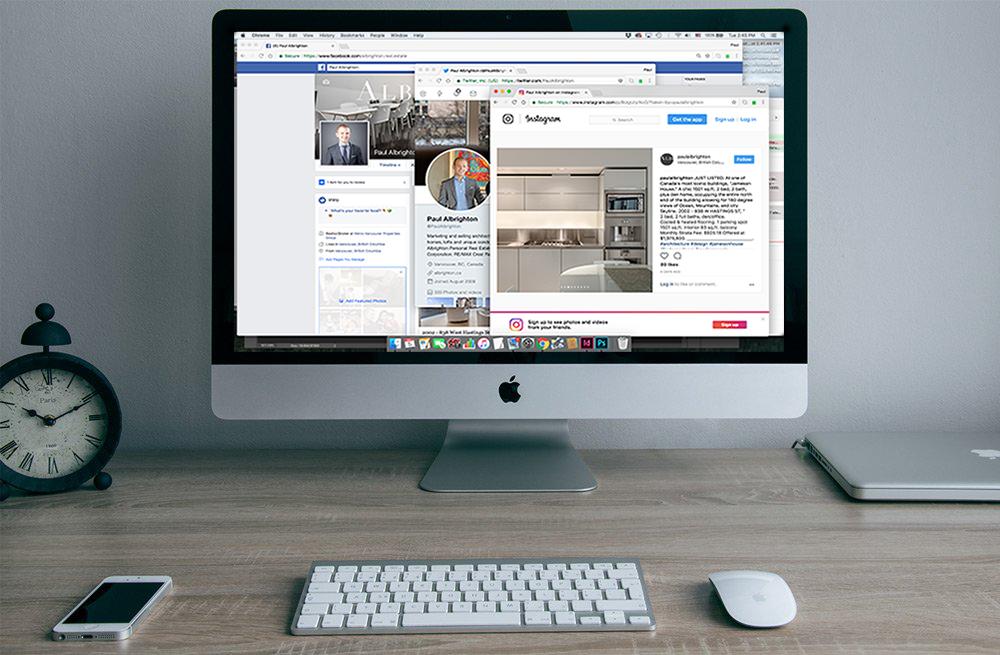 desktop social media