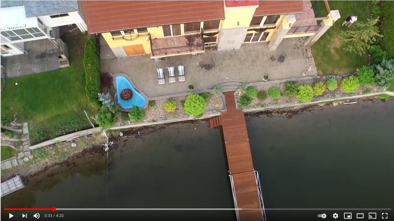drone video lake house