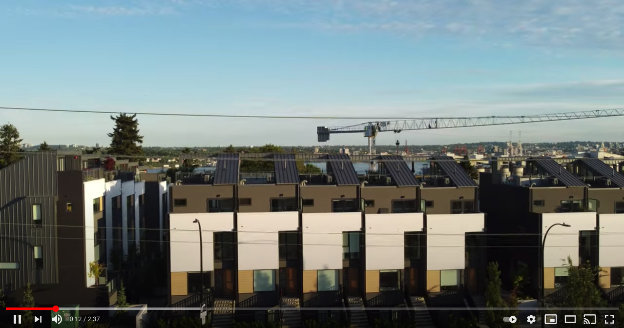 drone video townhouse moder