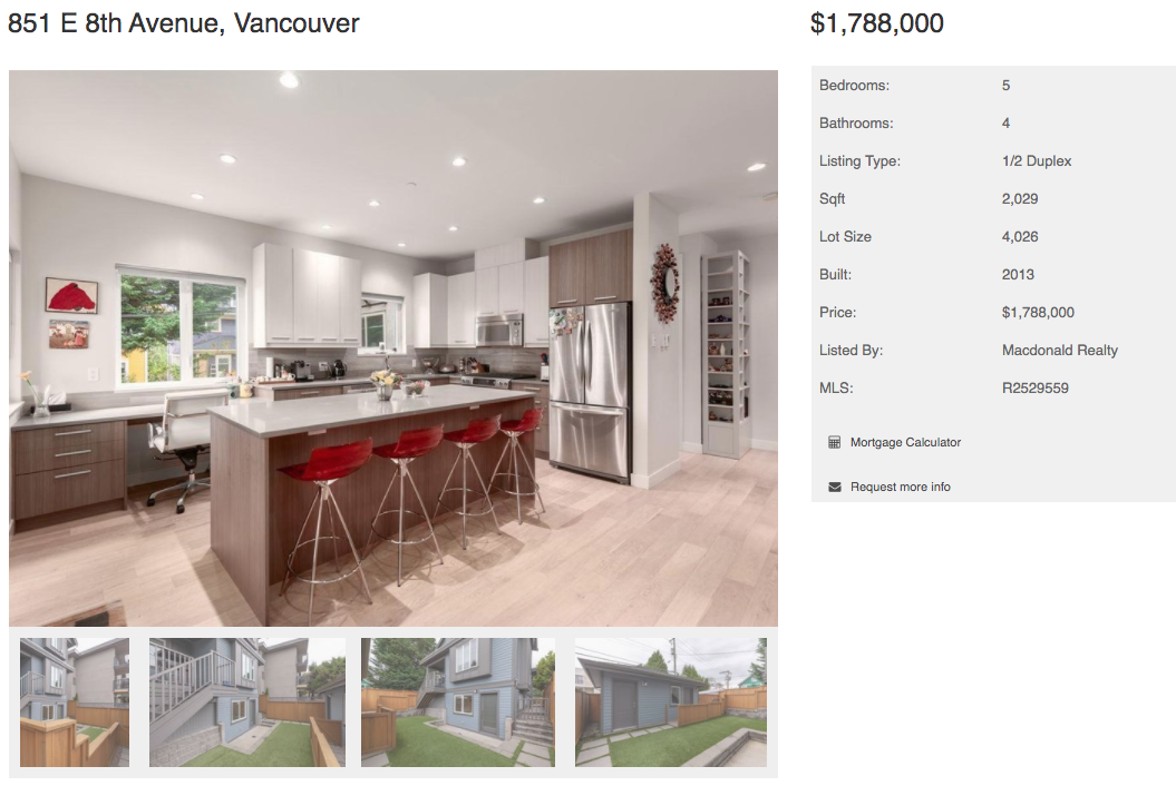 east vancouver modern home for sale