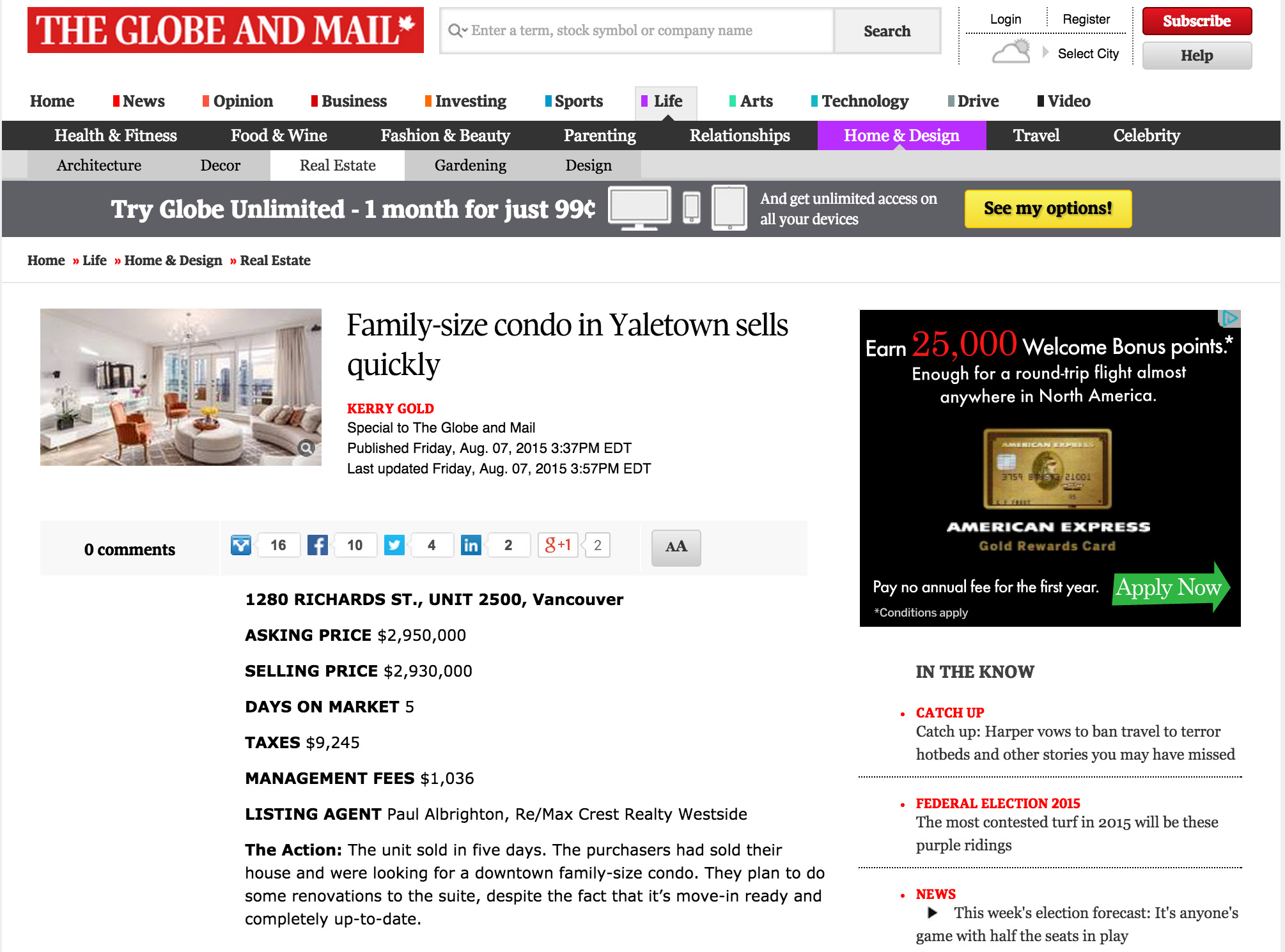 globe and mail news paul albrighton yaletown condo   the grace august 2015