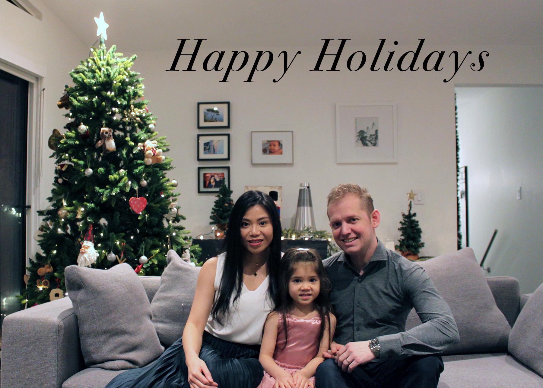 happy holidays from Paul Albrighton's family