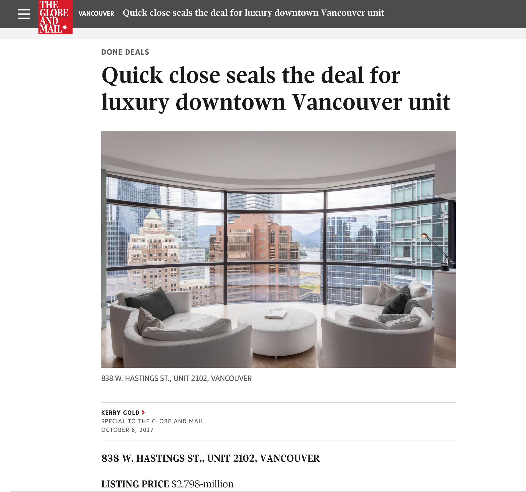 jameson house featured in globe  mail news