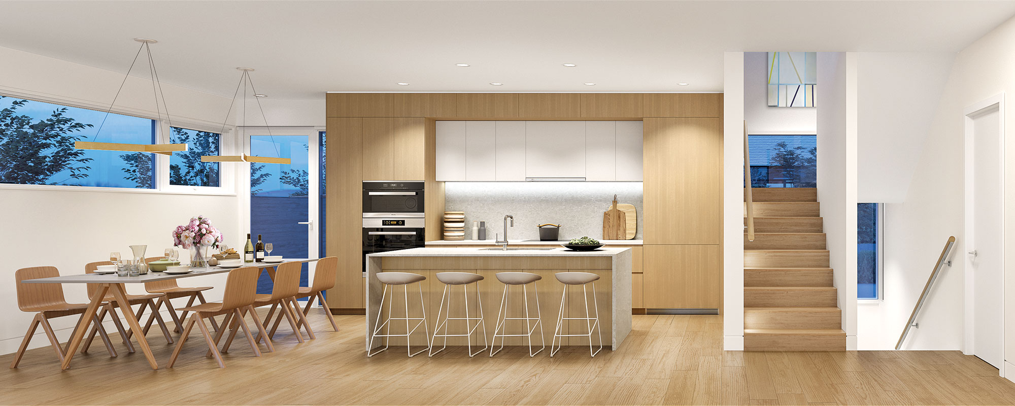 Landscape view modern townhouse vancouver kitchen