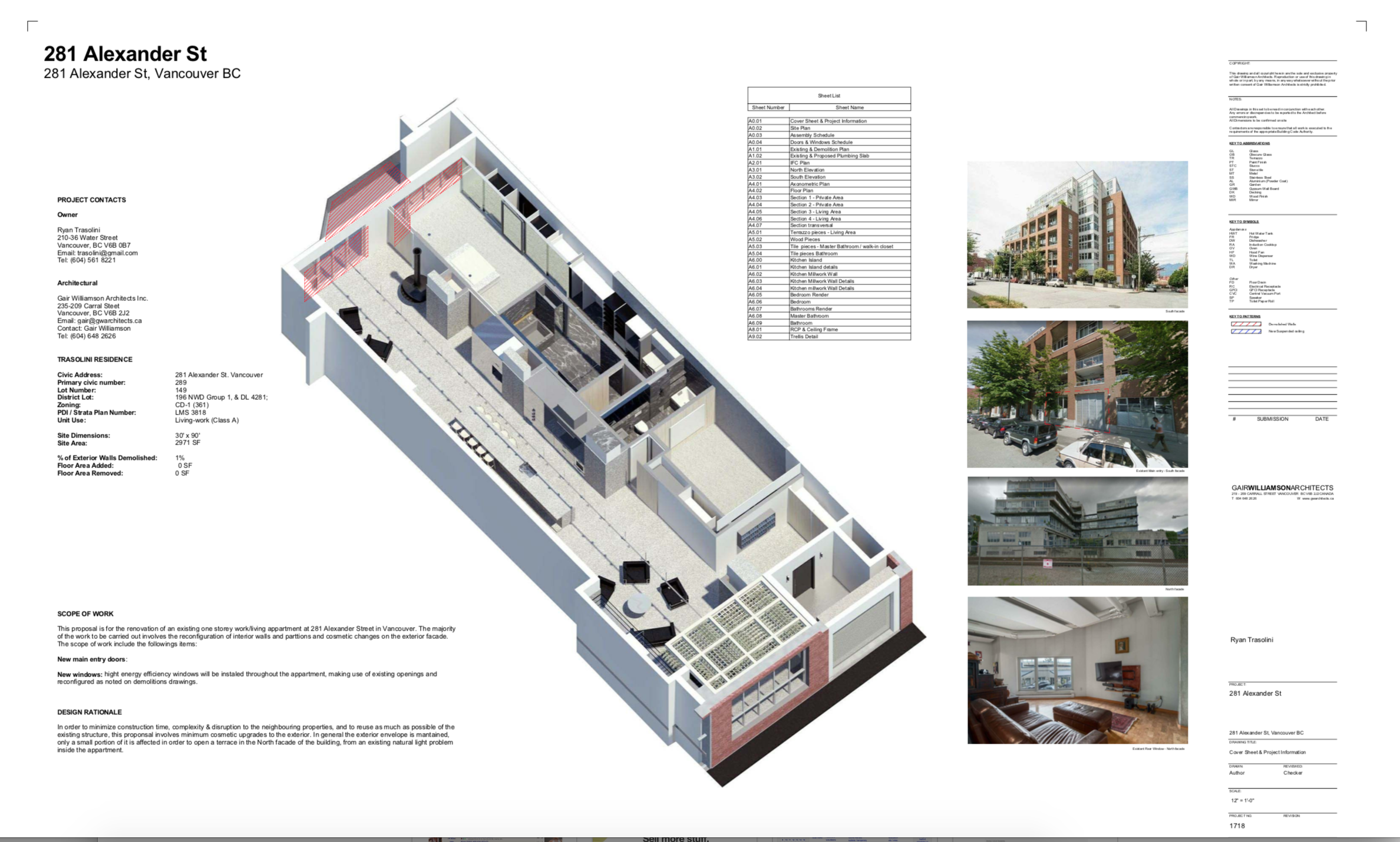 Plans & renderings from GW Architects - contact Realtor for more details