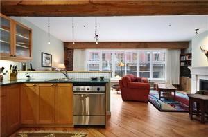 living room yaletown loft